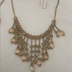 CHAMPAGNE GLASS BEADED NECKLACES